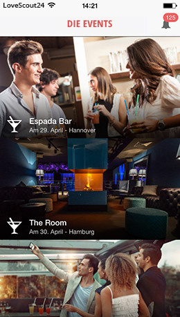 Events in der FriendScout24 App