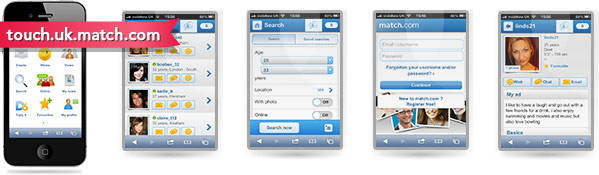 match.com dating site mobile app - information and screenshots