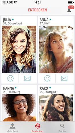 Online in der NEU.DE Mobile App