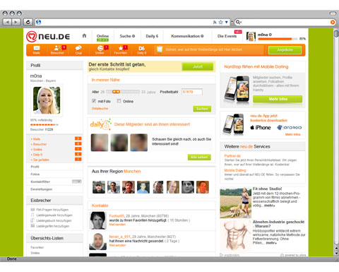 NEU.DE ist die meistbesuchte Dating-Site in Deutschland*